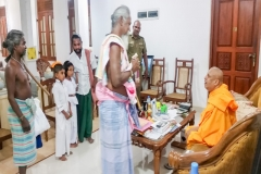 The Chieftain of Vedda community Uruwarige Wannila Eththo visit Jaya Sri Maha Bodhi and offer Bee honey to Chief Monk following ancient traditional customs.